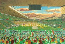 Hand Painted original of NEW celtic park